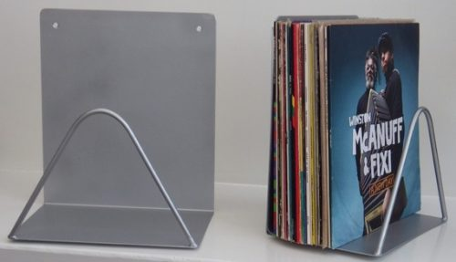 Support mural disques vinyles avec acc s de face rangement for Decoration porte disque 33t