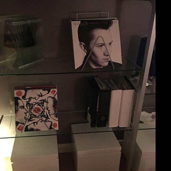 rack acier rangement des disques vinyles design acier. Black Bedroom Furniture Sets. Home Design Ideas
