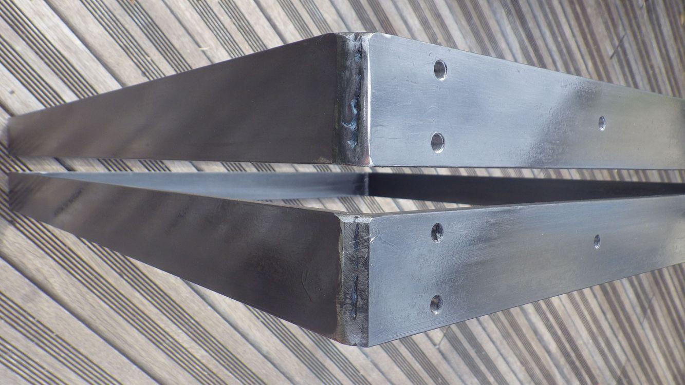 pieds rectangulaires dtail soudures - Pied Rectangulaire Pour Table