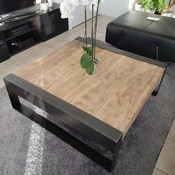 pieds rectangulaires acier cr ation tables basses diy. Black Bedroom Furniture Sets. Home Design Ideas