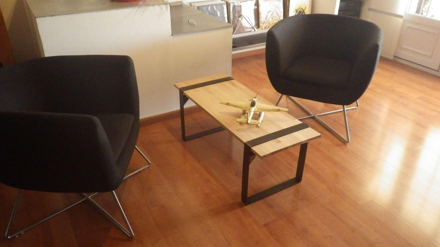 Design acier d co pieds de table meubles originaux style for Table 3 pieds