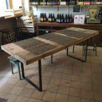Table pieds rectangulaires Design Acier