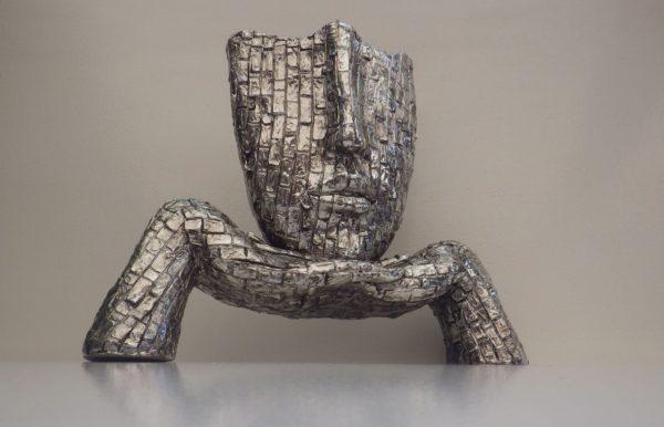 Sculpture Visage Design Acier
