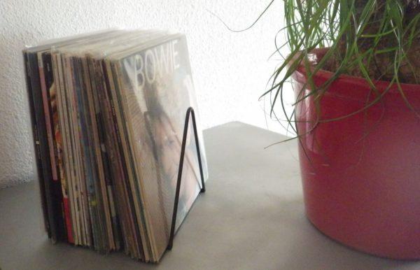 rack metal noir 50 disques vinyles designacier.com