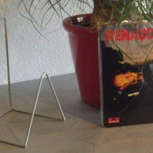 rack acier rangement disques vinyles DESIGN ACIER