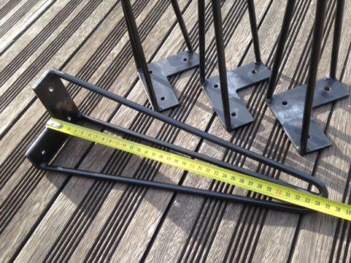 Pieds épingle Design Acier hauteur 35 cm
