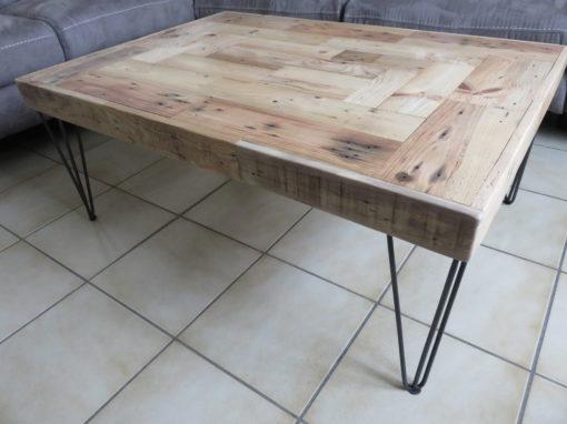 Pieds épingle table basse Création M ROGEON