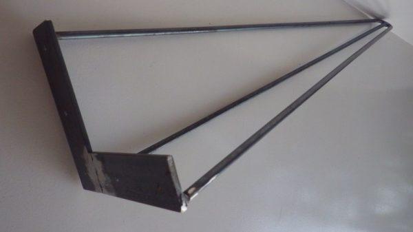 4 jambes acier en épingle 71 cm DESIGN ACIER