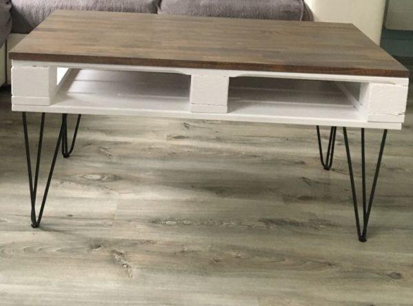 pieds épingle table basse palette Elise2