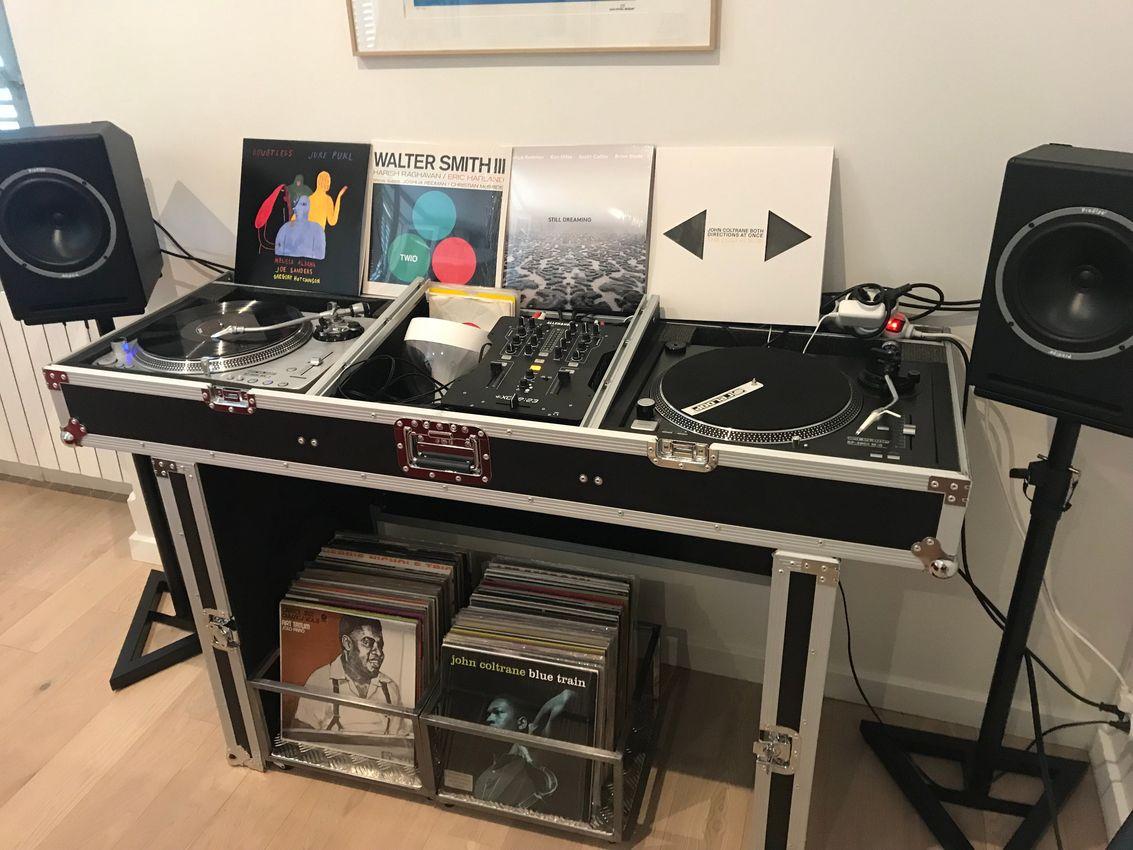 caisson rangement disques vinyles acier brut industriel - design acier