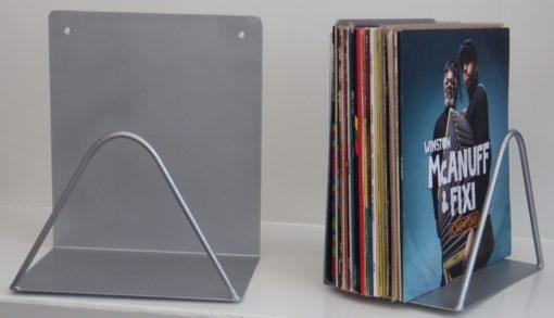 support mural gris disques vinyles designacier.com