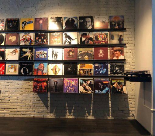 Mise en situation supports vinyles muraux Design acier