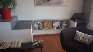 support mural rangement disques vinyles Création DESIGN ACIER