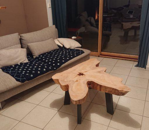 Création Nicolas table basse pieds inclinés