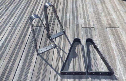 4 pieds cintrés épingle DESIGN ACIER