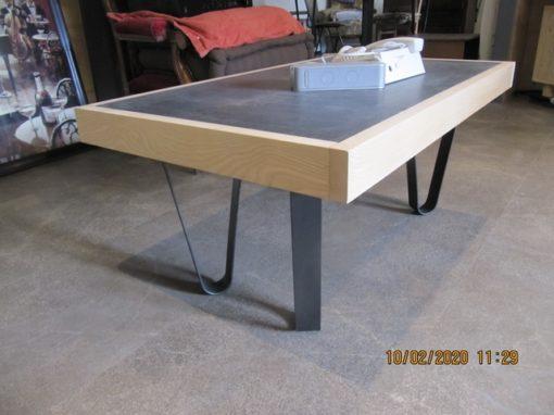 Pieds cintrés table basse Design Acier