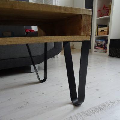 Pieds épingle cintrés table basse DESIGN ACIER