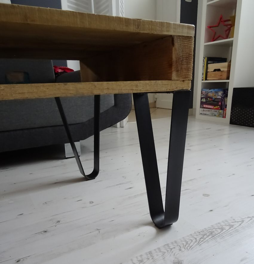 4 Pieds Cintrés Création Table Basse Diy