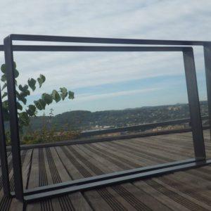 Pieds acier plat pour créations DIY table basse