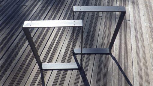 Pieds acier plat créations DIY meubles bas
