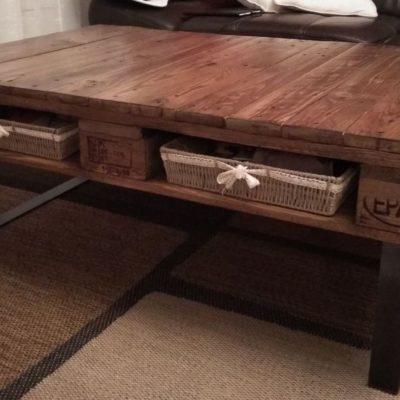 Table basse pieds Design Acier