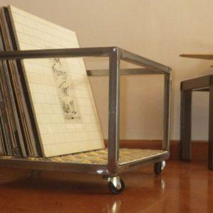 Caisson rangement metal disques vinyles designacier.com