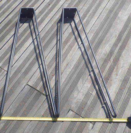 2 jambes acier écartement au sol 30 cm