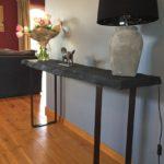 Pieds acier plat pour créations DIY console ou meuble bar