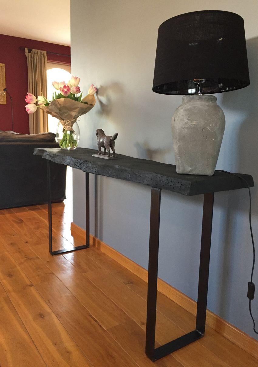 pieds console ou meuble bar design acier. Black Bedroom Furniture Sets. Home Design Ideas