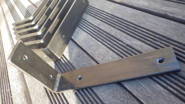 4 Supports équerre acier 10x20 cm Autres dimensions proposées DESIGN ACIER