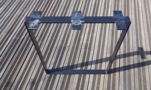 Pied de jonction en acier bureau king size Design acier