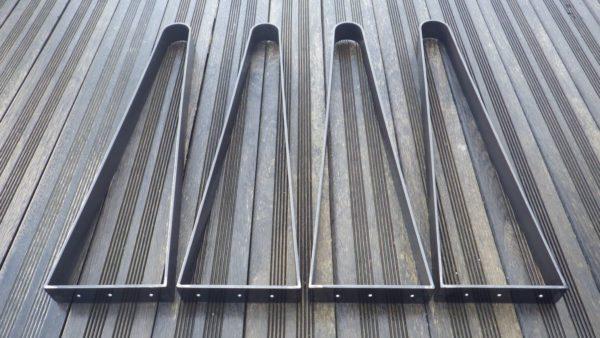 4 pieds cintrés en acier plat pour création table de cuisine ou de salle à manger Style industriel DESIGN ACIER