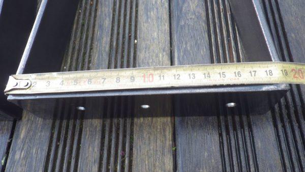 Pieds acier plat cintré pour création table de cuisine ou salle à manger (Plat d'accroche 19 cm)