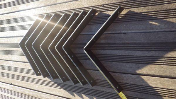 Supports équerre 20x20 noir mat design acier