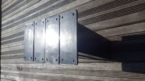 mini pieds inclinés acier industriel