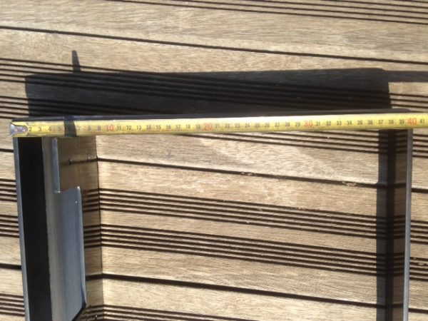 2 pieds table basse en acier tôlé hauteur 40 cm